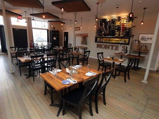 The dining room at Monte's Local Kitchen & Tap Room