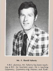 Photo of Dave Faherty from the 1981 Bergen Catholic