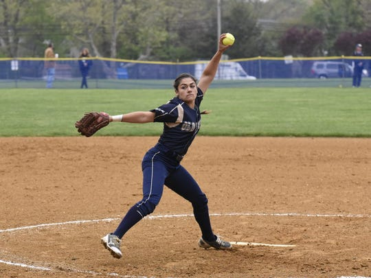 Julie Rodriguez of NV/Old Tappan is healthy again after missing much of last season because of a fractured finger. The UCLA-bound Rodriguez is one of the most dominant pitchers in North Jersey.