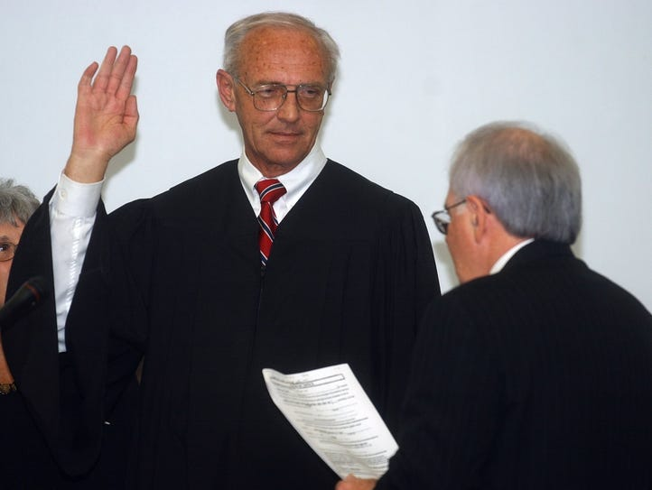 Larry Lolley was sworn in as a judge on the 2nd Circuit