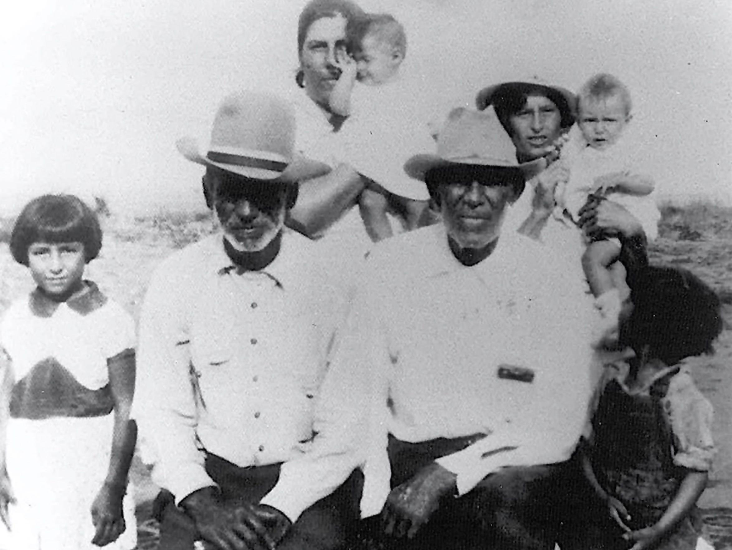 A family photo shows Arlinda Valencia's grandfather,