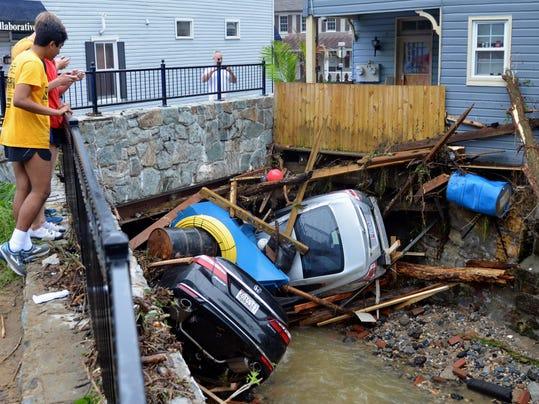 APTOPIX Maryland Flash Flooding