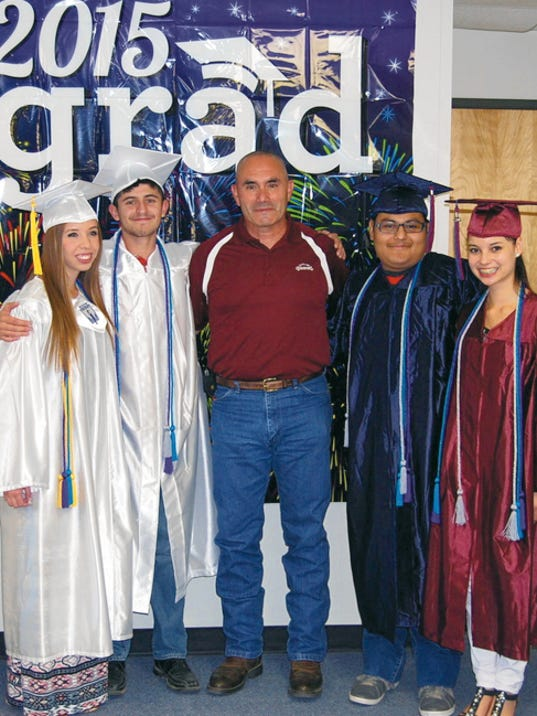 Courtesy Photo   Pictured from left are Xena Orozco, Joshua Gonzales, Deming Mayor Benny Jasso, Erik Hernandez and Viviana Belt. Not picutred is Getsemany Reyes.