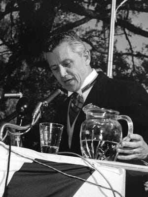 Gov. LeRoy Collins at his inauguration in 1955.