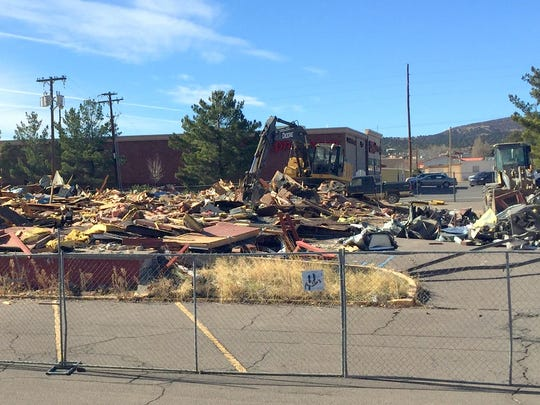 The Red Barn Steakhouse is being demolished and a Denny's Restaurant will be constructed in its place.