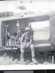 Dale Jeter, U.S. Army, in combat in the Vietnam War