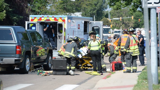 One person was seriously injured in an auto-versus-pedestrian crash Tuesday morning.