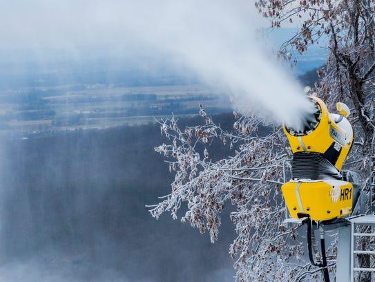 Whitetail Resort, near Mercersburg, began making snow