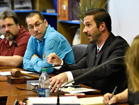 Councilman Shawn Mauck, speaks during the West York