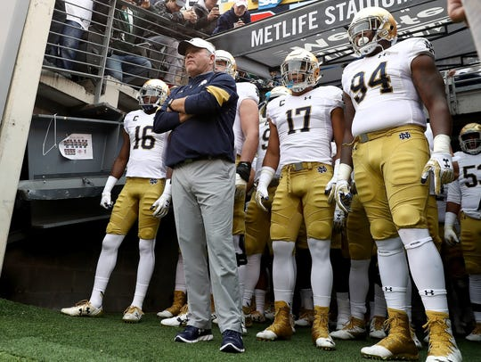 Brian Kelly and Notre Dame remain in the mix for Iowa