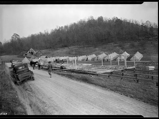 General view of CCC Camp, TVA #19, located between