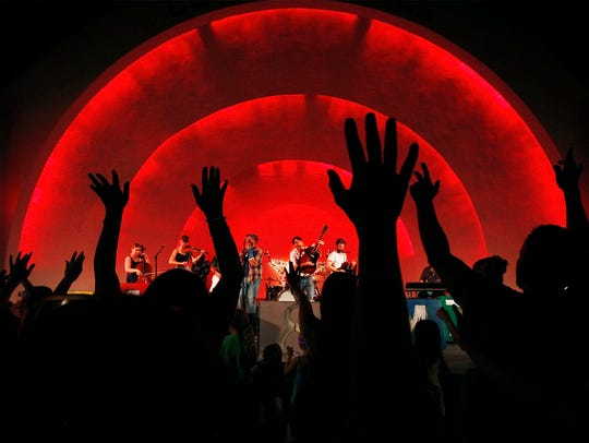 Star & Micey fans dance to the music at Levitt Shell