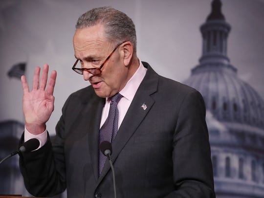 Senate Minority Leader Charles Schumer (D-NY) speaks