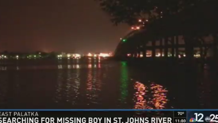 The search continues for a missing boy who fell off