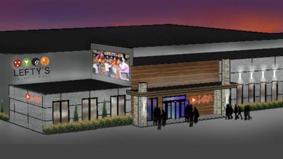 Lefty's Alley and Eats will open in fall 2016.