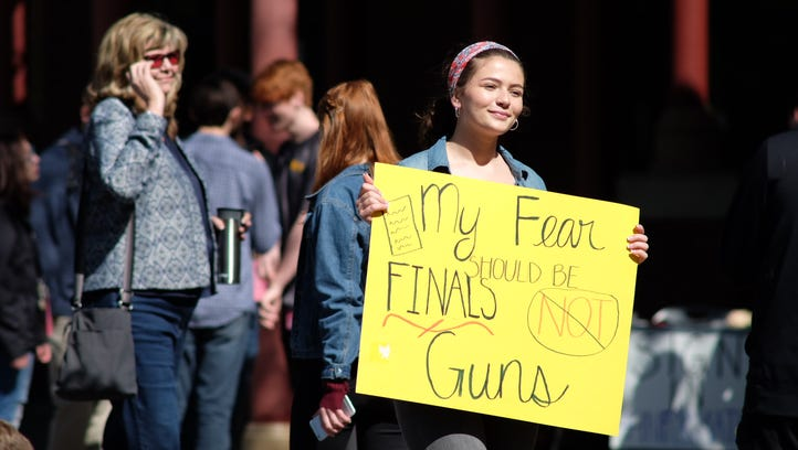 Knox, Maryville students walk out as part of national protests on 19th anniversary of Columbine massacre