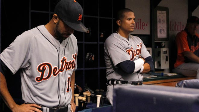 Despite a big year from Victor Martinez, right, and the acquisition of David Price, the Detroit Tigers are very much on the playoff bubble in the American League.