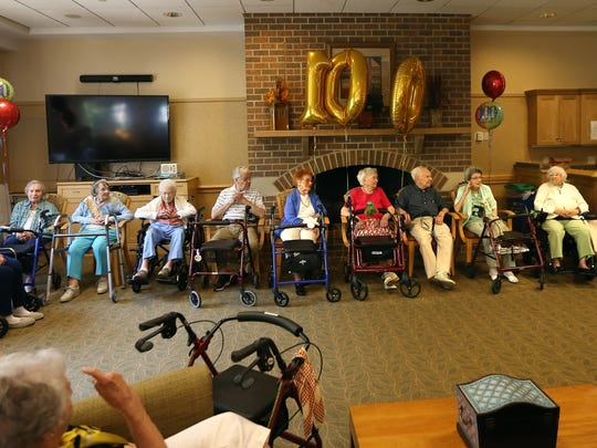 Centennial birthday celebration for residents 100 years and older at Cedar Crest Retirement Community in Pompton Plains. July 22, 2016, Pompton Plains, NJ