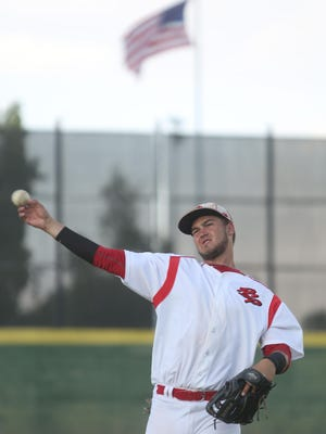 Power Palm Springs' first baseman Jonathan Serven graduated from Palm Desert High School and is currently at Long Beach State University.