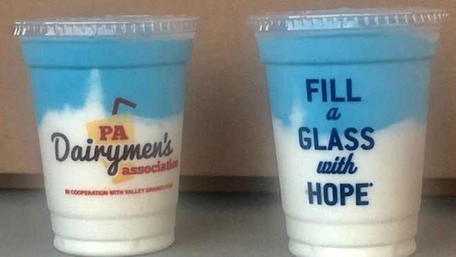 Blue and white Farm Show milkshakes will be sold at Penn State home football games this season.