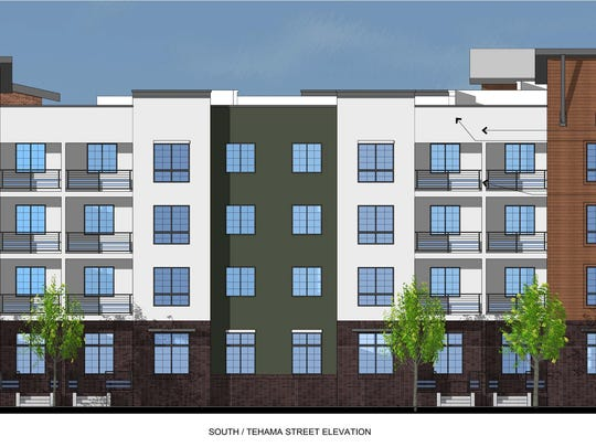 Plans for a mixed-use development to replace the north end of the California Street parking garage in downtown Redding will be vetted by the Redding Planning Commission.