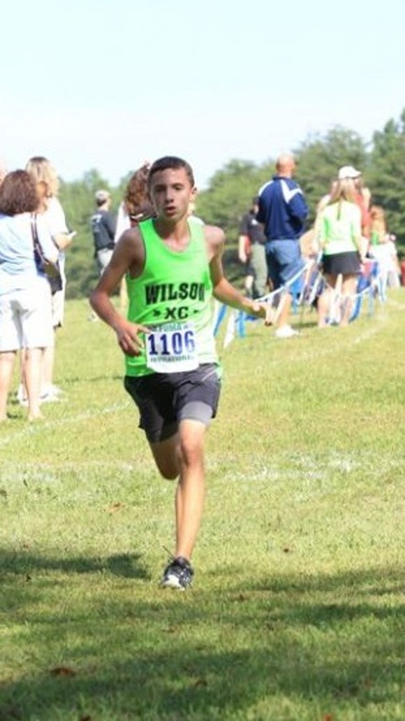 Vincent Leo runs in a race in 2014 for Wilson Memorial