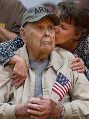 U.S. Army veteran Charles Alexander of Henderson gets