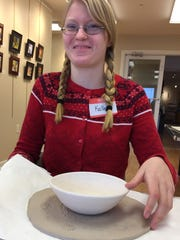 Home schooler Kallee Wharton made a bowl for the Empty Bowl Project at the Ocean City Center for the Arts on 94th Street.