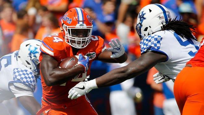 Florida running back Mark Thompson will not play Saturday.