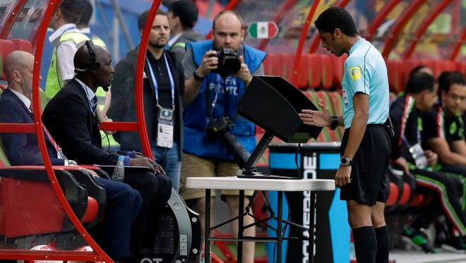 Video review was used at this year's Confederations Cup in hopes that it can be implemented for the 2018 World Cup.