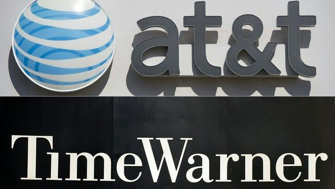 AT&T and Time Warner logos
