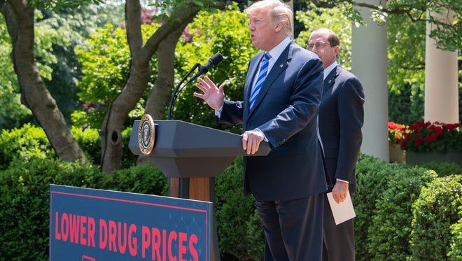 President Donald Trump talks about lowering prescription drug prices, White House Rose Garden, Washington, D.C., May 11, 2018.