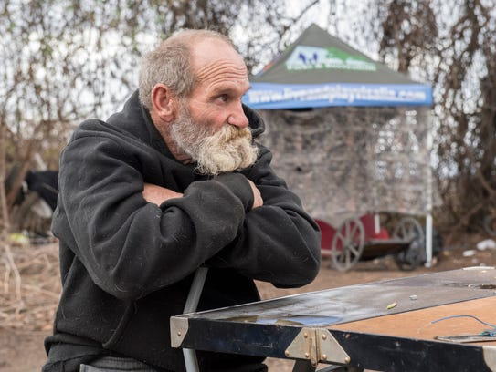 Jeff Thomas is homeless and lives in the area of Ben