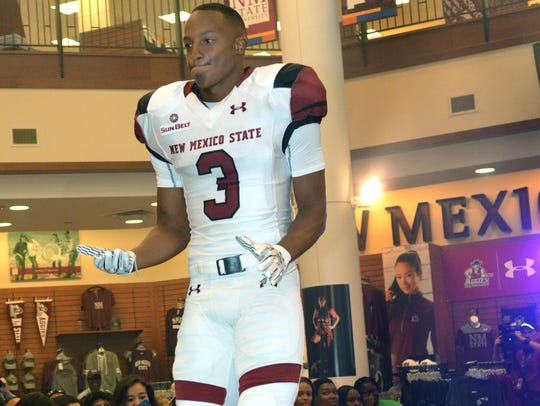 New Mexico State running back Larry Rose III is doubtful