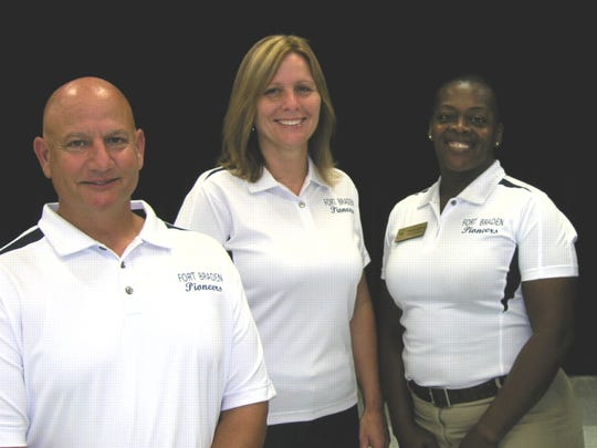 Ft. Braden assistant principal Patricia Rouse stands alongside her fellow school leadership team.