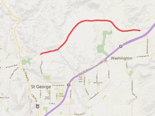 The proposed Washington Parkway would cut across the