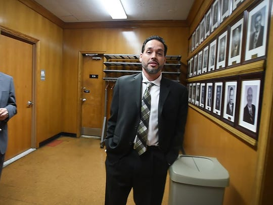 Detective Mark Gutierrez is seen at a disciplinary