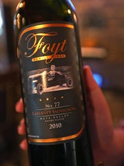 This is a 2010 Cabernet Sauvignon wine from the Foyt Family Wines, at the Foyt Wine Vault, in Speedway, Monday, May 4, 2015.