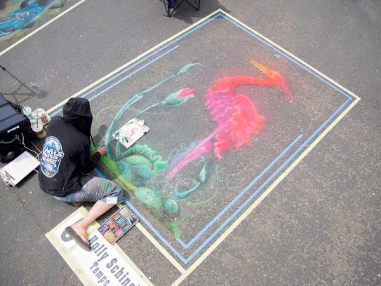 At Chalk It Up! Prescott, participants can create chalk