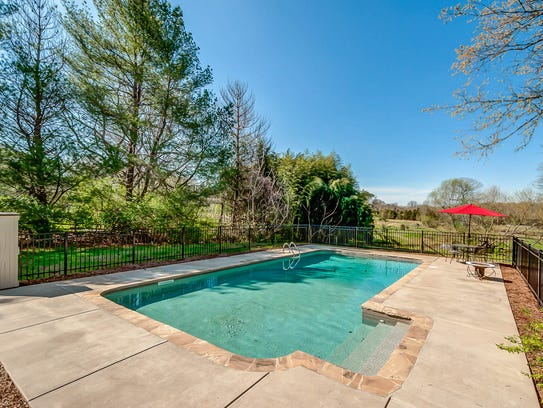 The home includes a swimming pool.