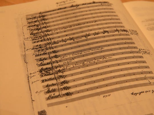 The sheet music for Mahler 5, written in Mahler's own