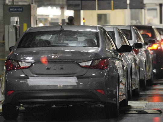 Montgomery's Hyundai plant rolled out 35,709 Elantra and Sonata vehicles in September.