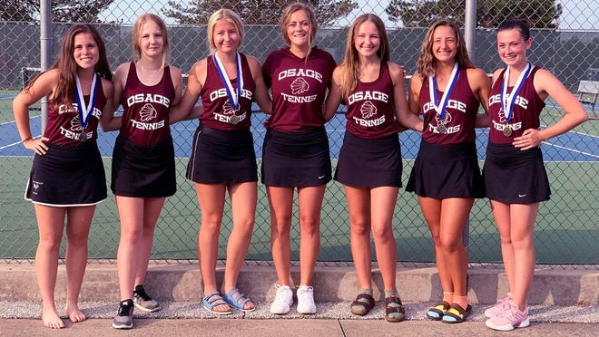 The Osage girls tennis team finished second at the Boonville Tournament on Saturday, September 12.