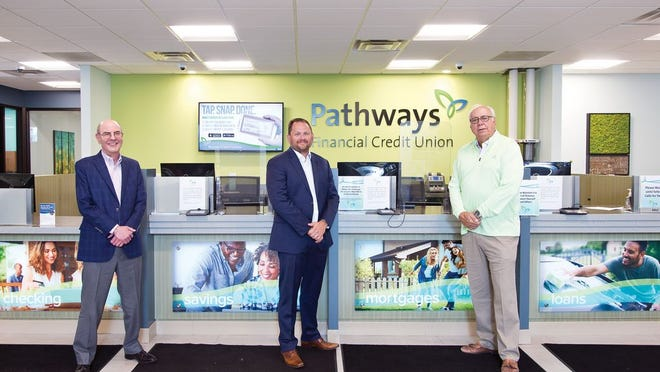 Pathways President Greg Kidwell, CEO Michael Shafer and Board Chair Jack Radich