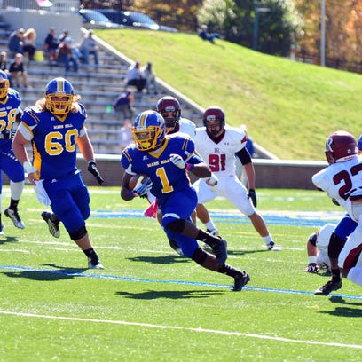 Former East Henderson High standout Shaikel Davis has rushed for 2,815 yards and 15 touchdowns in three seasons with Mars Hill and has two seasons of more than 1,100 yards on the ground.
