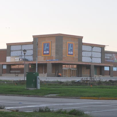 Aldi 's new store at 6270 W. Brown Deer Road is pictured on Oct. 3, 2016. The store's grand opening is Thursday, Oct. 27.