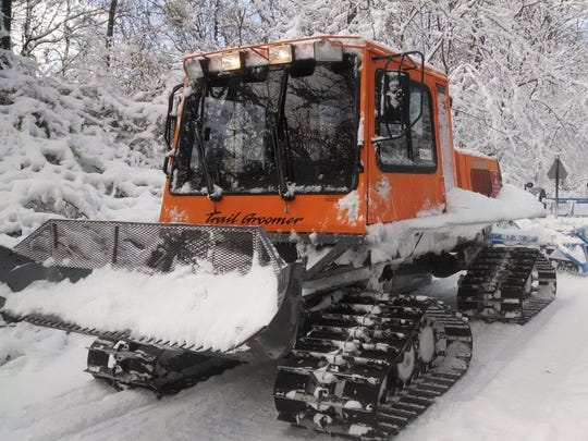 Trail grooming equipment used by the Raccoon Valley Snow Chasers to prepare the trails.