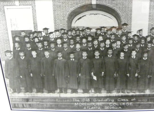 Martin Luther King Jr., second from left, front row,