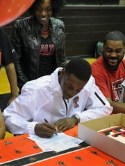 Flashback to signing day for T.J. Vasher when he made it official he was going to Texas Tech from Rider High School.