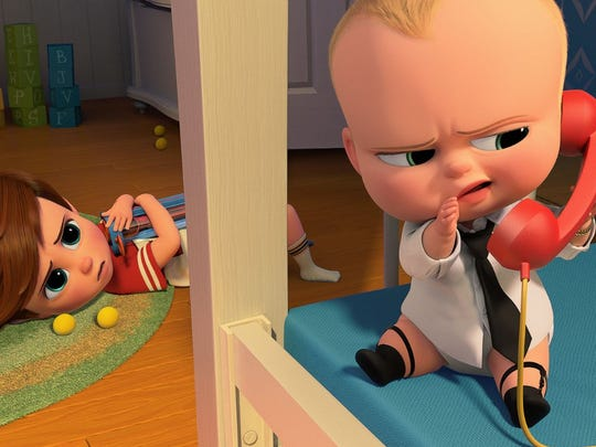 "Alec Baldwin and Miles Christopher Bakshi are featured in ""The Boss Baby."""